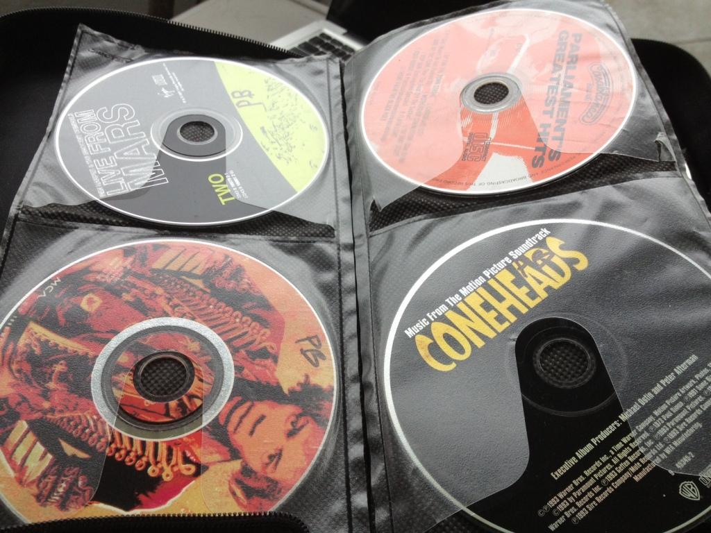 CDs in case